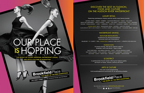 Brookfield Place Case Study - Print & Digital Media Advertising in GQ, W, Details