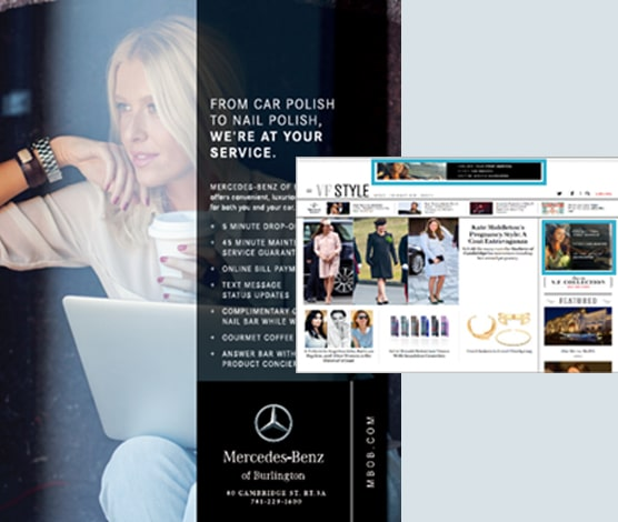 Mercedes of Burlington Case Study - Digital Media Advertising in Allure, Architectural Digest, Bon Appétit, Condé Nast Traveler, Epicurious, Glamour, Self, Vanity Fair
