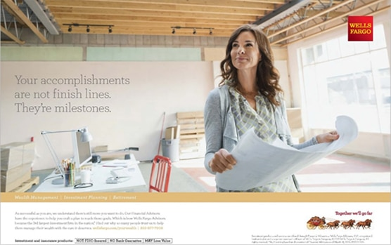 Wells Fargo Case Study - Digital & Local Magazine Advertising in Architectural Digest, Bon Appétit, Golf Digest, Vanity Fair