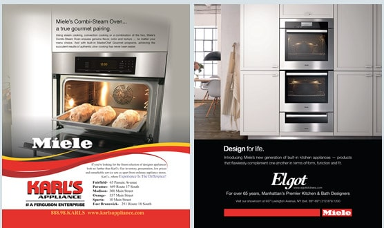 Miele Case Study - Local Print Magazine & Digital Advertising in Architectural Digest, Condé Nast Traveler & Vanity Fair